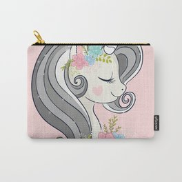 Cute unicorn face. Carry-All Pouch