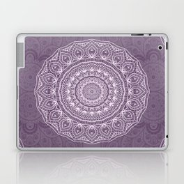 White Lace on Lavender Laptop & iPad Skin