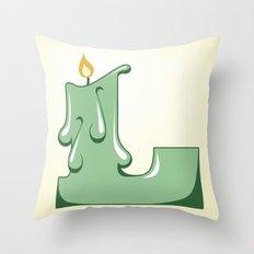 Alphabet L Throw Pillow