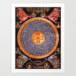 Buddhist Mandala 24 Art Print