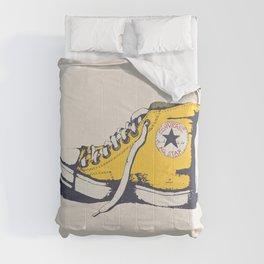 Conversation Yellow Comforters