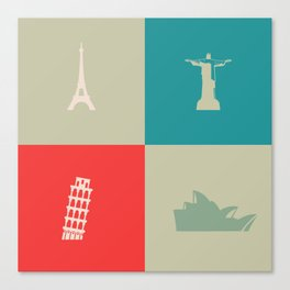 Travel #1 Cities Canvas Print