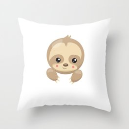 Ilovesloths Throw Pillow