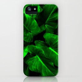 Arum Lilly Leaves iPhone Case