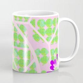Pretty Purple with Pink and Mint Green Coffee Mug