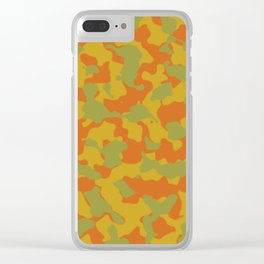 Camouflage Autumn Trending Colors Clear iPhone Case