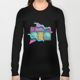 Retro Eighties Boom Box Graphic Long Sleeve T-shirt