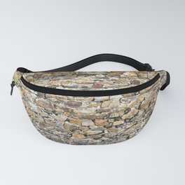Stone Wall With Weeds Fanny Pack