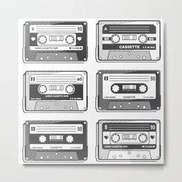 Mix Tape Vintage / Retro Cassette Metal Print
