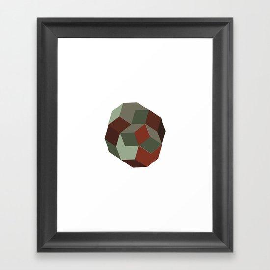 #231 Penrose's asteroid – Geometry Daily Framed Art Print