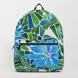 Water Lilies – Blue & Green Palette Backpack