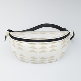 Tribal Triangles in Tan Fanny Pack