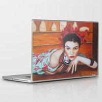 medicine Laptop & iPad Skins featuring Medicine Woman by Michael Diggs
