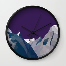 Geo Mountain Range (Part 4) Wall Clock