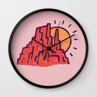 utah Wall Clocks featuring Utah by WEAREYAWN