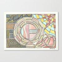 divergent Canvas Prints featuring Divergent Windows (2014) by Eli Dorman