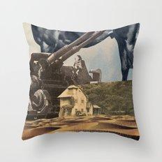 House In Desert Throw Pillow