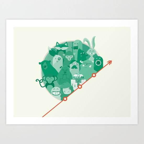 R2 made some friends Art Print