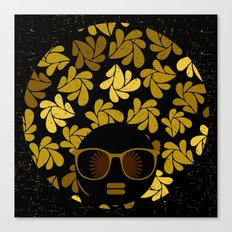 Afro Diva : Gold Canvas Print