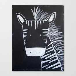 No. 0013 - Modern Kids and Nursery Art - The Zebra Canvas Print