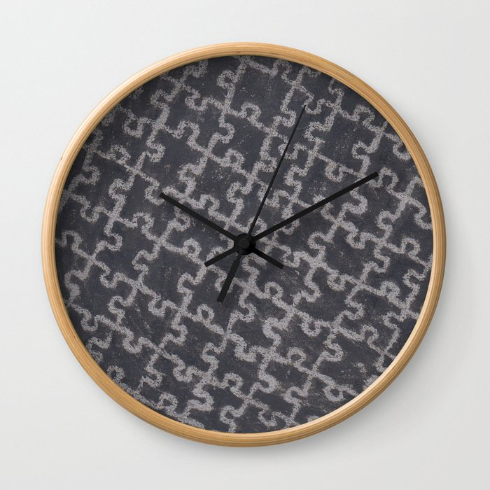 Life Is A Puzzle 28 Wall Clock By Artistacp Society6