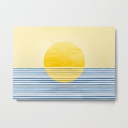 Minimal Summer Sunset Metal Print