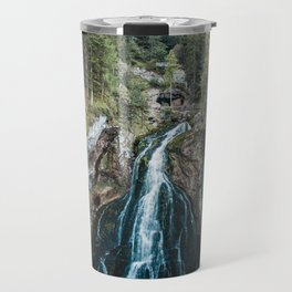 königssee waterfall alps bayern forrest drone aerial shot nature wanderlust Travel Mug
