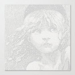Victor Hugo's WATERLOO ramblings (Les Miserables) Canvas Print