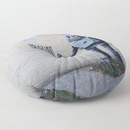 Banksy Robot (Coney Island, NYC) Floor Pillow