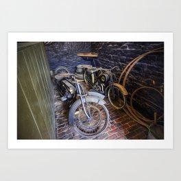 1920s Motorcycles Art Print