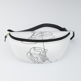 Sneakers simple minimal one line art, hanging shoes branded shoes  Fanny Pack