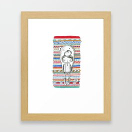Little hoody Ann Framed Art Print