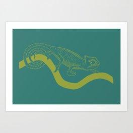 chameleon 1 Art Print