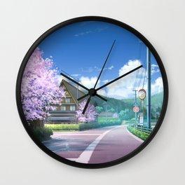 Road Original Artwork Wall Clock