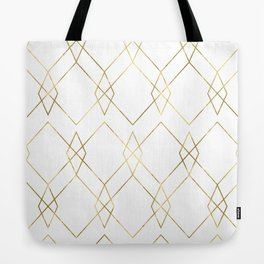 Gold Geometric Tote Bag