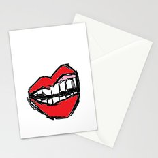 Rough sketch of Lips. Stationery Cards