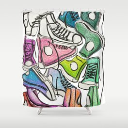 Sneaker Party Shower Curtain