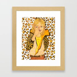 Tay-Tay Leopard Girl Framed Art Print