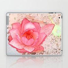 pink waterlily. floral photo art. Laptop & iPad Skin