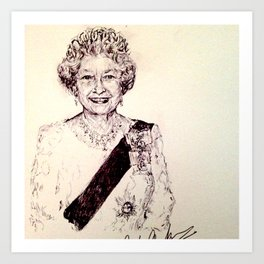Queen Elizabeth Art Print