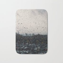 Rainy Grey Bath Mat