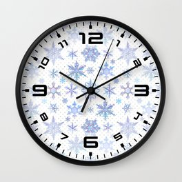 Snowflakes #1 Wall Clock