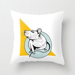 Pip Squeak Throw Pillow