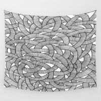 knit Wall Tapestries featuring Macro Knit  by Plenty Culture