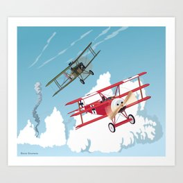 The Red Baron Art Print