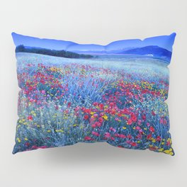 Spring poppies at blue hour Pillow Sham