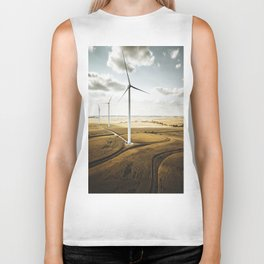 windturbine in nebraska Biker Tank