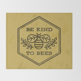 Be Kind To Bees Throw Blanket