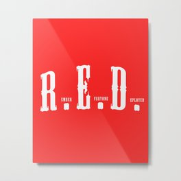 RED(R.E.D.) Metal Print