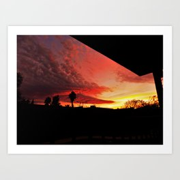Sunset On Fire Art Print